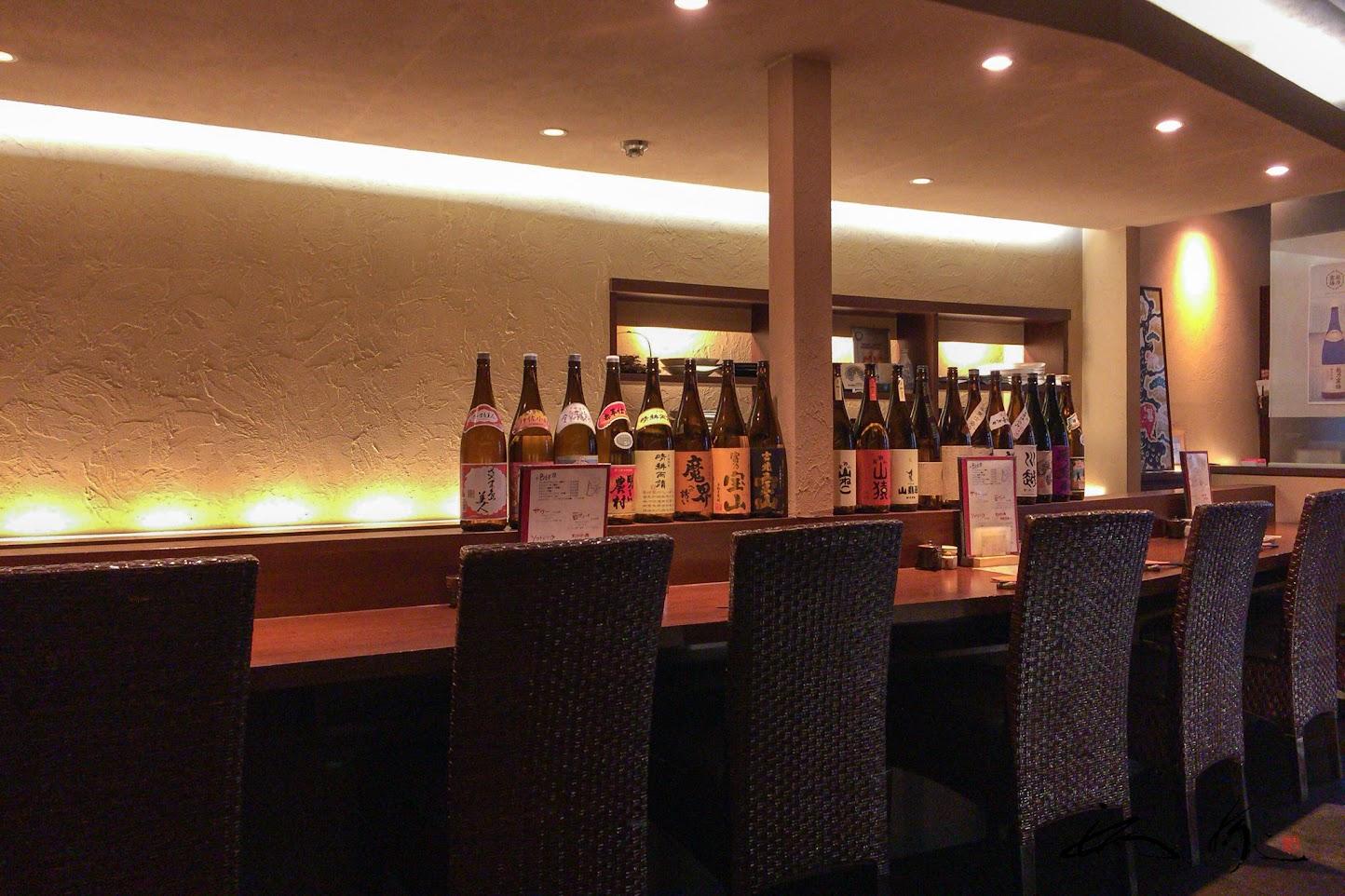 ずらりと並ぶ日本酒
