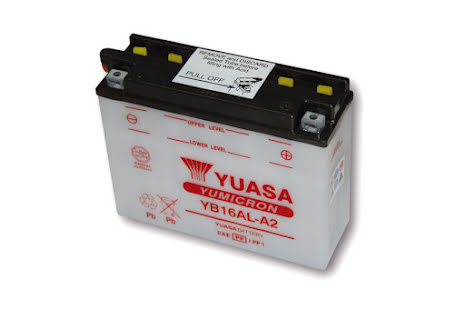 YUASA MC-batteri YB 16AL-A2 utan syrapack