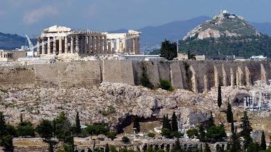 Photo: Acropolis: Erechtheion, Parthenon and to the right the hill with Agios Georgios Lykavittos