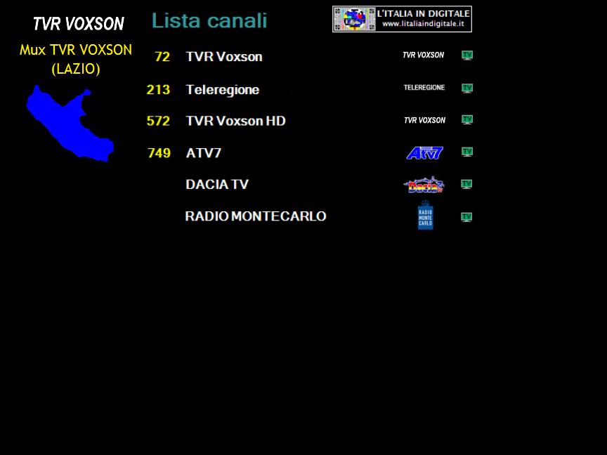 MUX TVR VOXSON (LAZIO)