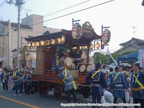 Photo: 【平成16年(2004) 宵宮】 歩行者天国の開始とともに山車の運行を開始。