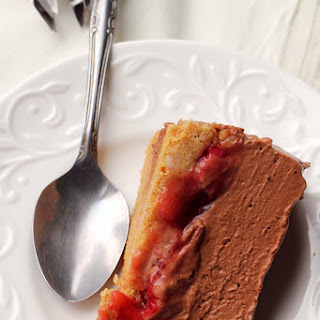 Chocolate Mousse-Covered Strawberry Pie.