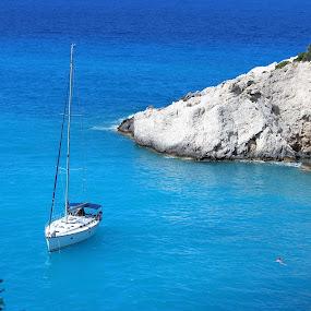 Greece gulf by Bratislav Stamenković - Landscapes Beaches ( sea, beach, boat, coast )