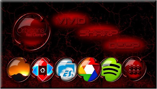 Clamp Red HD Orbicons Icons screenshot 0