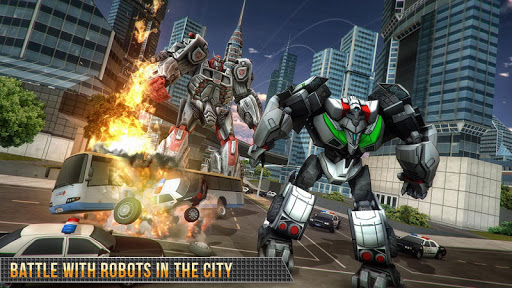 Télécharger Real Gangster Robot Car Transform Game 2020 APK MOD (Astuce) screenshots 1