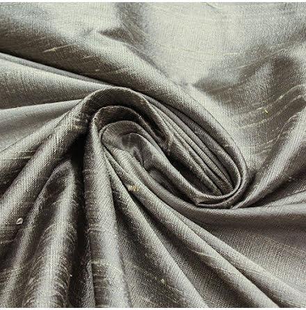 Dupion -silvergrå