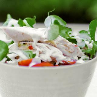 Chicken-Pea Shoot Salad