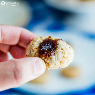 Walnut Macaroon Thumbprint Cookies with Fig Preserves Recipe