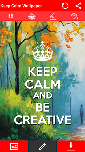 Keep Calm Wallpaper Editor