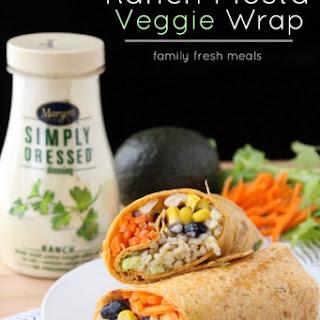 Easy Ranch Fiesta Veggie Wrap
