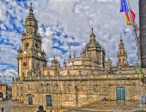 Photo: Santiago de Compostela This is the eastern façade of the famous cathedral, with the Royal Door, the Holy Door and the Abbot's Door. Panorama made out of 2 shots, handheld. My contribution to #SacredSunday curated by +Charles Lupica.