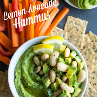 Lemon Avocado Hummus