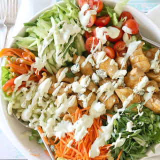 Buffalo Chicken Salad with Blue Cheese Dressing.