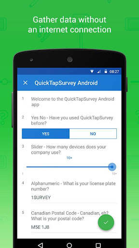 QuickTapSurvey Offline Survey