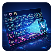 Hologram Neon Keyboard Theme