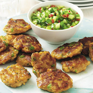 Fish Cakes with Chili Cucumber Sauce.