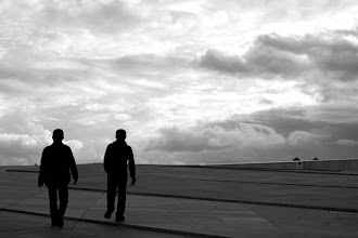 Photo: Day 246 / June 14, 2012 Two men walking over the roof of Oslo Opera House in Norway  オペラハウスの屋根の上から #creative366project
