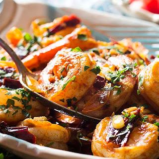 Spanish Garlic Shrimp with Paprika Tapas.