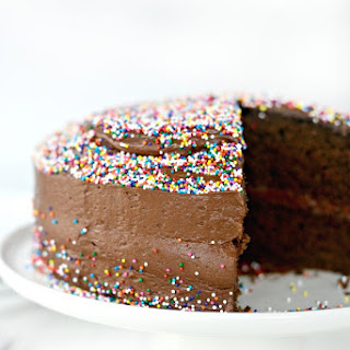 Homemade Chocolate Cake with Chocolate Almond Buttermilk Frosting
