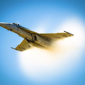 Almost Super by Craig Curlee - Transportation Airplanes ( f-18, airplane, fast, airshow, military )