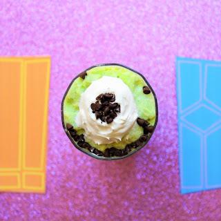 Mike Wazowski Blended Green Tea Latte.