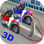 Chained Heavy Bike Real Riders Racing Game