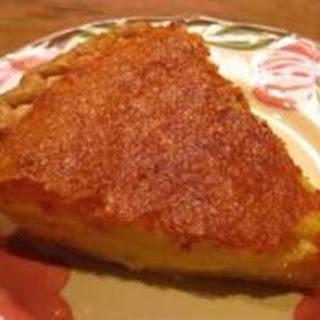 My Mother's Buttermilk Pie.