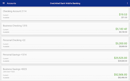 OneUnited Bank Mobile Banking- screenshot thumbnail