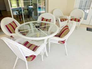 Photo: New cushions for the lanai chairs
