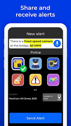Radarbot Pro: Speed Camera Detector & Speedometer screenshot