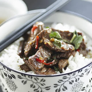 Thai Lamb with Chili and Mint.