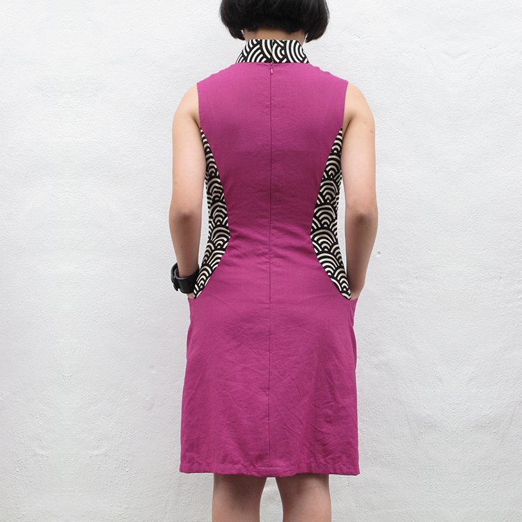 Fen Qipao Purple Small