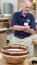 Photo: For Show & Tell, Stan Sherman brought this amazing segmented bowl with a unique decorative ring.
