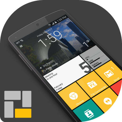 Square Home 3 - Launcher : Windows style file APK for Gaming PC/PS3/PS4 Smart TV