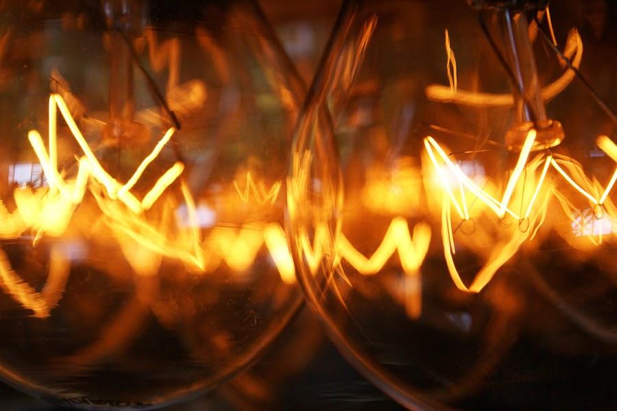 Light Bulbs by Kevin Sullivan - Abstract Fine Art ( blub, light )