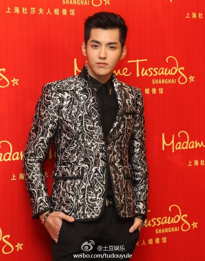 Kris Wu Yifan at Madame Tussauds press con