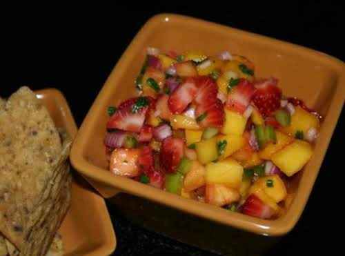 "Mango Strawberry Salsa ""Was bored and wanted a fruity salsa so came..."