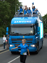 Photo: Second Sponsor lorry presages Olympic flame  - Cambridge 2012