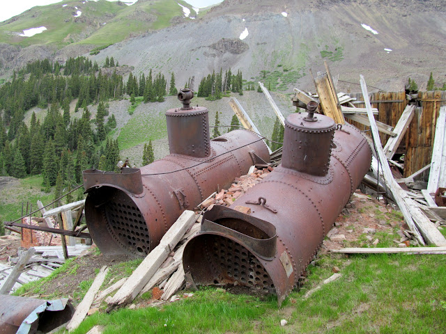 Steam boilers at the San Juan Chief mill