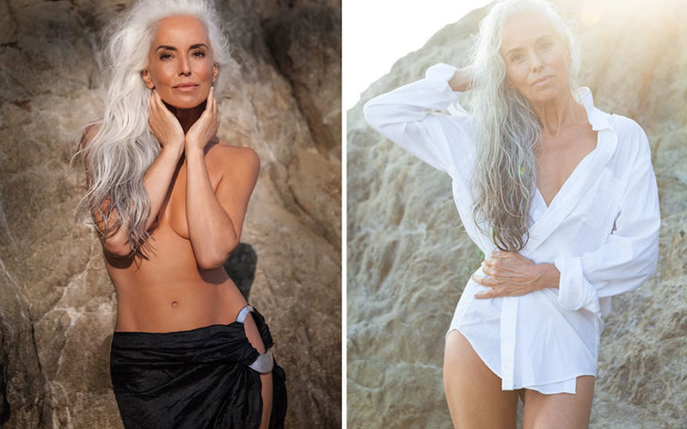61-Year-Old Model Stuns The World, Shares Her Secrets To Graceful Aging