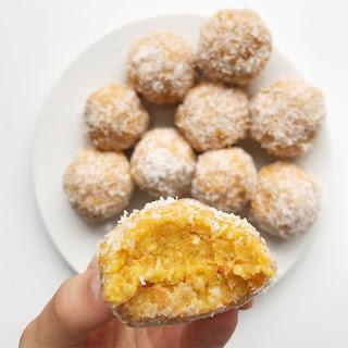 Cashew Coconut Carrot Cake Bites.