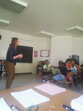 Photo: Our VISTA Saundra Malanowicz spoke to our students about turning their interests into a career