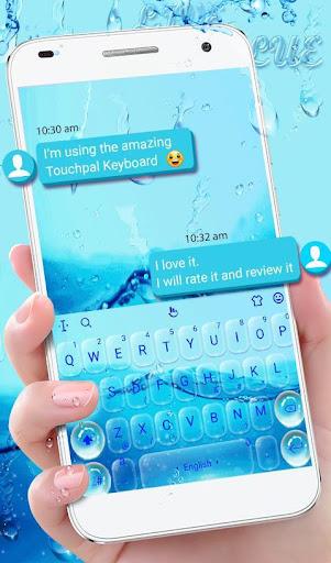 Live 3D Water Keyboard Theme 6.5.7 screenshots 2