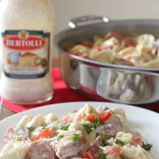 One Pan Tortellini & Sausage Alfredo