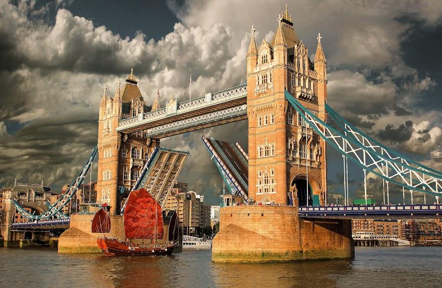 Tower Bridge by Nick Moulds - City,  Street & Park  Vistas ( open, england, thames, london, tower bridge )
