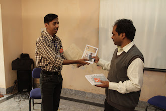 Photo: Gifting the printed copy of TISA newsletter Samvad ...