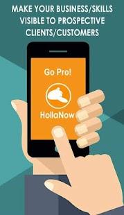 HollaNow - náhled