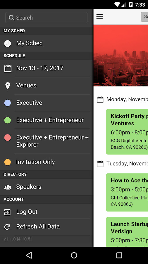Techweek LA- screenshot