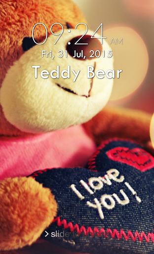 Teddy Bear Lock Screen