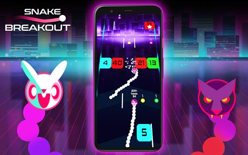 Snake Breakout: Fun PvP Battle Arcade Racing Games android2mod screenshots 6